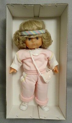 """RARE 1980s COROLLE """"FLORENCE JOGGING"""" 17"""" DOLL - #2408 - MINT in BOX - $90 VALUE"""
