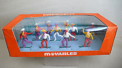 Cresent Gift Set 902   Plastic Cowboys  Movables  Boxed