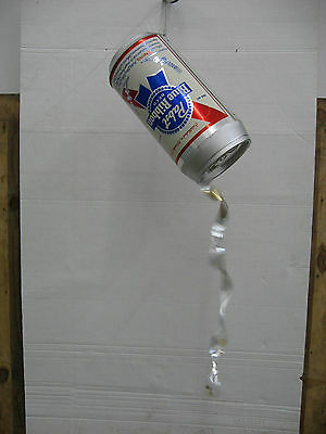 Large Vintage Pabst Blue Ribbon,Pouring Beer Can,Battery,Martin Paul,Display
