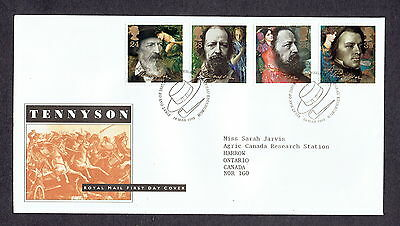 Great Britain - 1992 - Tennyson, Scott# 1441-44, Combo Cover