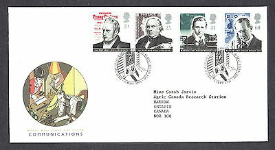 Great Britain - 1995 - Communications, Scott# 1625-28, Combo Cover