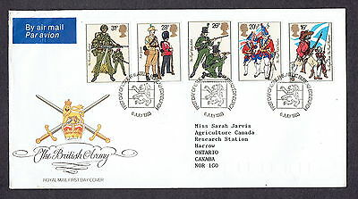 Great Britain - 1983 - The British Army, Scott# 1022-26, Combo Cover