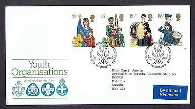 Great Britain - 1982 - Youth Organizations, Scott# 983-86, Combo Cover