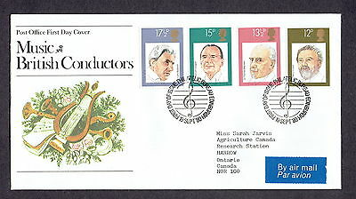 Great Britain - 1980 - Music & British Conductors, Scott# 920-23 Combo Cover