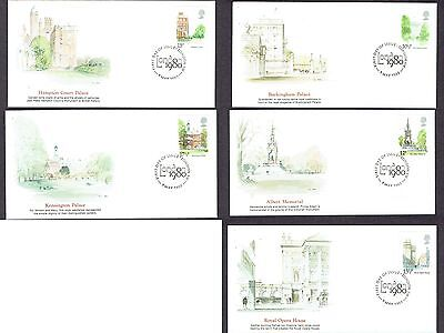 Great Britain - 1980 - Landmarks of London, Scott# 910-14, 5 Fleetwood Covers