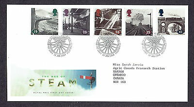 Great Britain - 1994 - The Age of Steam, Scott# 1533-37, Combo Cover