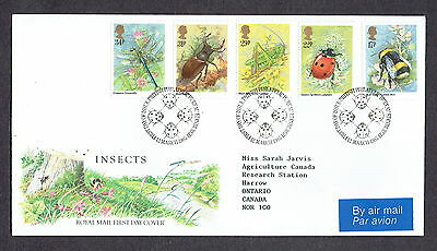 Great Britain - 1985 - Insects, Scott# 1098-1102, Combo Cover