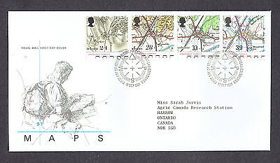 Great Britain - 1991 - Maps, Scott# 1392-95, Combo Cover