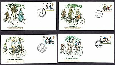 Great Britain - 1978 - Cycling, Scott# 843-46, Fleetwood 4 FDCs