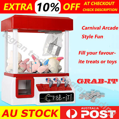 NEW Carnival Style Vending Arcade Claw Candy Grabber Prize Machine Game Kids toy