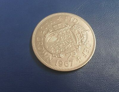 british half-crown 1967 very nice coin