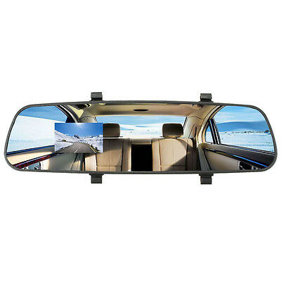 "2.7"" HD 1080P In-Car Rear View Mirror Dash DVR Cam Video Recorder Camera E7I4"
