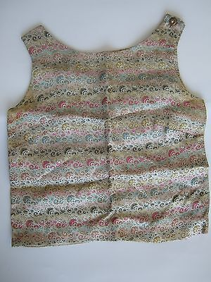 Vintage 60s floral tapestry weave silk sleeveless top