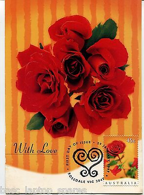 """1997 Maxi Cards - With Love """"Roses"""""""