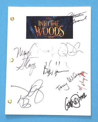 Into The Woods Movie Signed Script Emily Blunt, Johnny Depp, Meryl Streep