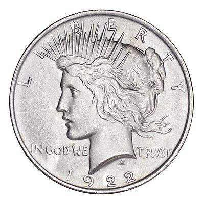 United States Peace Dollars Silver Coin 1922 Dollar