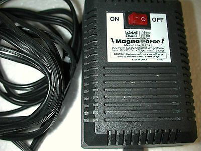 Magna-Force Mf615 Transformer/adapter 120/15 Vac Dc/ Dcc Power Supply Brand