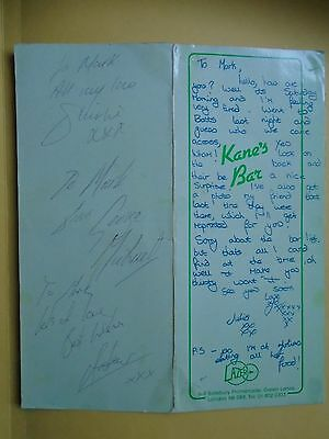 George Michael and Wham Autograph
