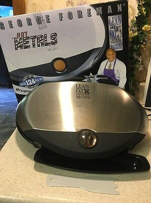 George Foreman Indoor Biggest 124 Sq IN. Grill GR31SB Brushed Stainless In Box