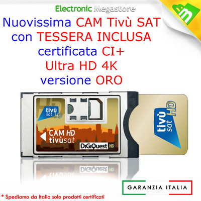 Cam 4K + Tessera Tivusat Gold Ultrahd - Ultra Hd Smart Card Tivusat Inclusa