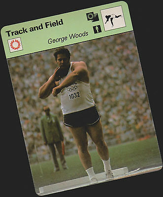 Rare 1979 George Woods Sportscaster Card #81-06 A Printing Mint From Cello