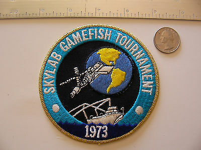Rare Vintage/Original Skylab Gamefish Tournament 1973 patch + Stamp