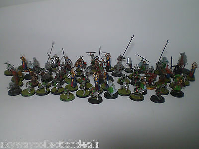 Warhammer Lord of the Rings Plastic Army Painted Figs Lot ,more than 50 figures!