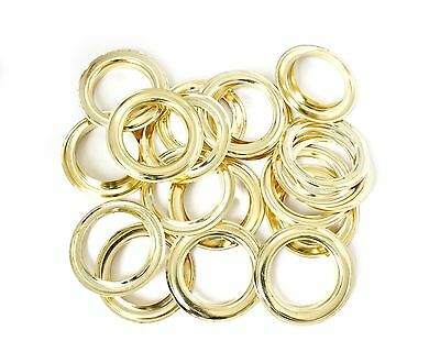 30mm Gold Rust Proof Eyelets Washers Grommets Leathercraft PVC Banners DIY