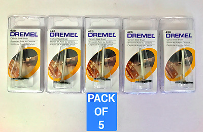Dremel 428: Pack of 5 Carbon Steel Brush. Factory Sealed!