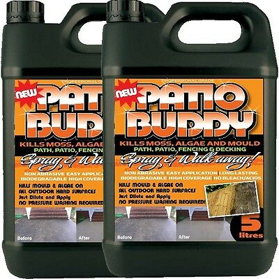 2 Patio Cleaner Mould Algae Moss Killer Remover Drive Path Magic Decking Fencing