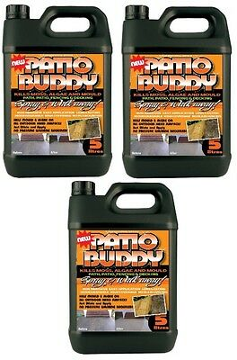 3 Patio Cleaner Mould Algae Moss Killer Remover Drive Path Magic Decking Fencing