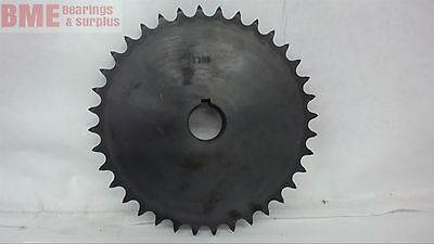 40B36 Sprocket, 40 Chain, 36 Teeth,  1'' Keyed Bore