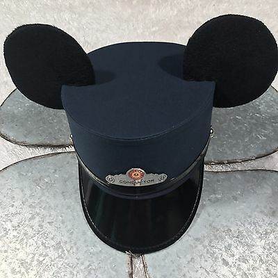 Disney California Adventures Red Car Trolley Conductor Hat w/ Mickey Mouse Ears