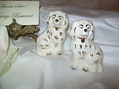 "Spaniels Pair Beswick England ""Wally Dogs"" Cavaliers Two Matching #1378-7 3.5"""