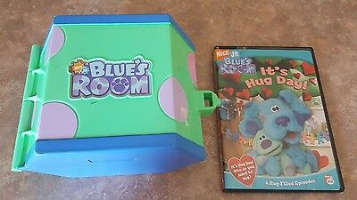 BLUES ROOM Clues LOT of 2 Toy House Carrying Case and DVD Hug Day ...
