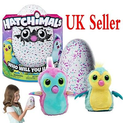 Kid Toys Hatchimals Pengualas Teal Hatching Egg Interactive Pet Easter Gift Doll