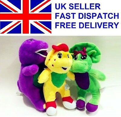 Save £30 Barney & Friends 3 pc Plush Doll Toy Action Figure  Baby Bop BJ