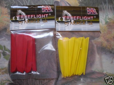 "archery arrow vane/fletching 2.5"" qty 48 new"