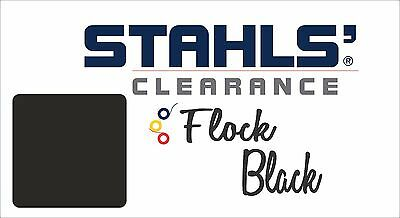 "9"" x 10 Yards - Stahls' Craft Roll Flock Heat Transfer Vinyl HTV - Black"
