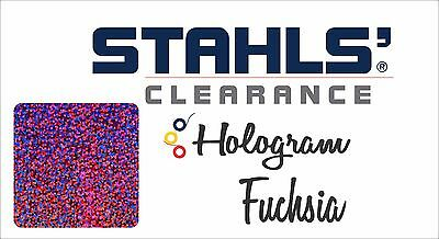 "8"" x 10 Yards - Stahls' Hologram Heat Transfer Vinyl HTV - Fuchsia"