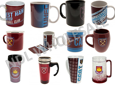 West Ham FC Jumbo Mug Travel Mug Latte Tea Tub Cappucc Christmas Birthday Gift