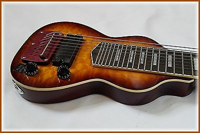 Dillion hand picked 8 string lap steel in 2 tone with maple front & back