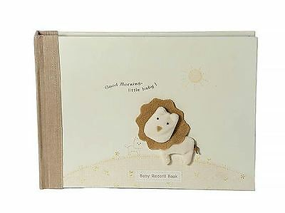 Boxed New Boy Girl Unisex Lion Baby Record Book Memory Diary Photo Album Gift