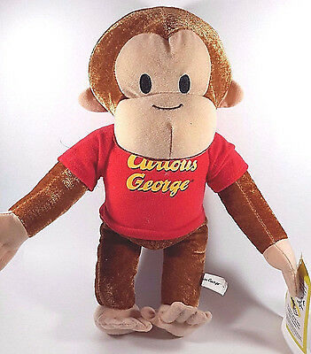 "Gund 14"" Curious George Plush Figure, Monkey Toy Doll Stuffed Animal Kid Child"