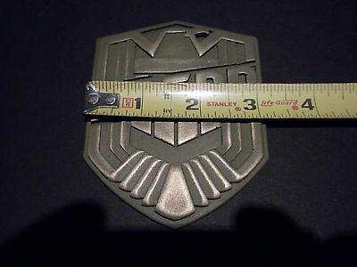 Judge Dredd badge shield movie prop collectible  scy-fi insignia cosplay