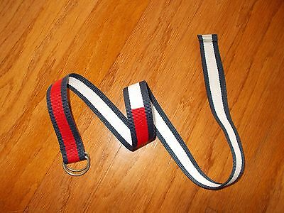Childrens Kids Boys Girls Adjustable D Ring Belt Red White Blue