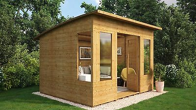 10 x 8 Verano Wooden Garden Summerhouse Sunroom With Tongue and Groove Cladding