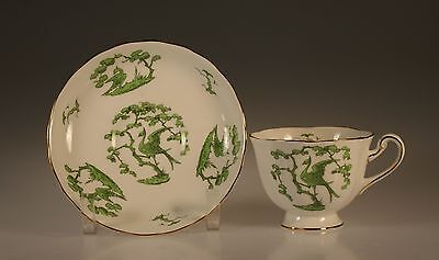 "Royal Chelsea ""Evergreen"" Cup and Saucer, Pattern #4930-A, England 1950s"