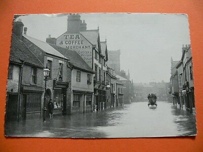 Spon Street, Coventry. During The Great Flood of December 1900. Postcard.