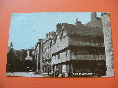 A Bit of Old Lincoln, Dainty Series Postcard, Posted 1906.